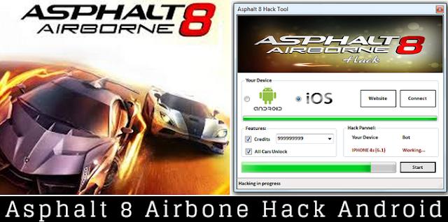 Asphalt 8 hack free download for android
