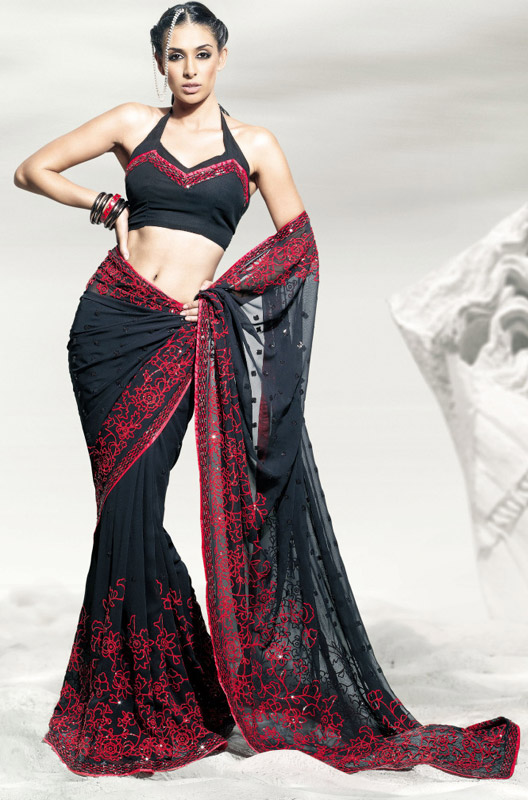 Indian Embroidered Sarees Latest 2012 Collection Ladies