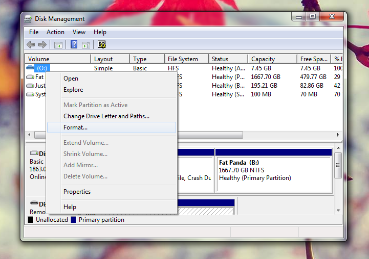 how to format usb for windows 7 boot drive