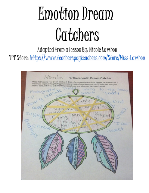 Borrowed Lesson Dream Catchers The Middle School Counselor
