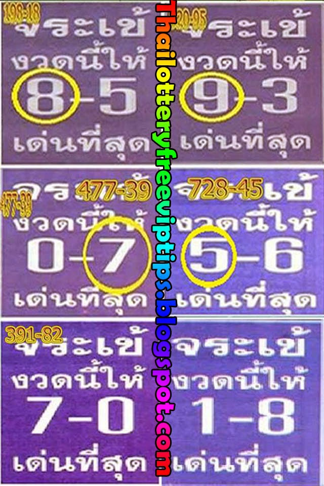 Thai Lottery 3up Best Tip paper and Sure Number 16-08-2014