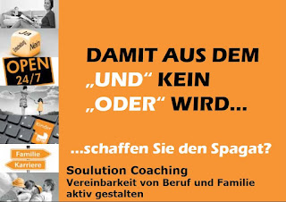 Soulution Coaching Silke Mekat Unternehmensberatung für familienbewusste Personalpolitik Vereinbarkeit von Beruf und Familie Postkarte