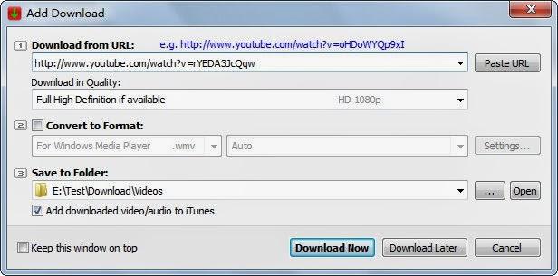 صور من داخل برنامج YouTube Downloader Pro