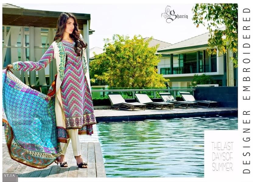 Shariq Textile Spring Lawn Designs