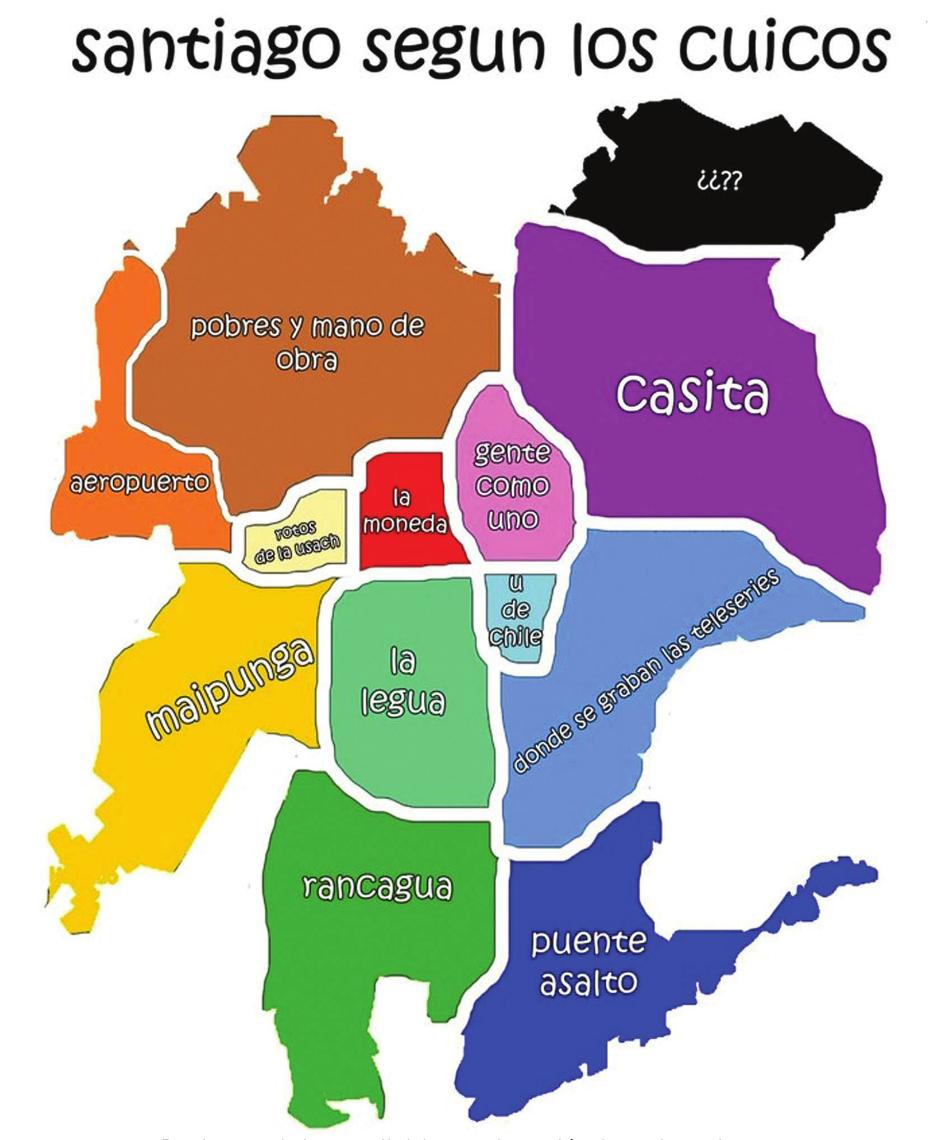 Mapa de santiago seg n los cuicos notici n de hoy for Calles de santiago de chile