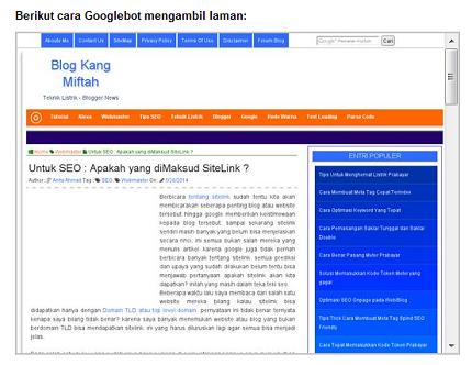 Fitur Pengambilan Render Terbaru Webmaster Google - blog kang miftah