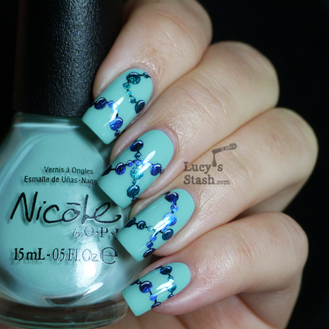 Lucy's Stash - Strands Of Beads Nail Art