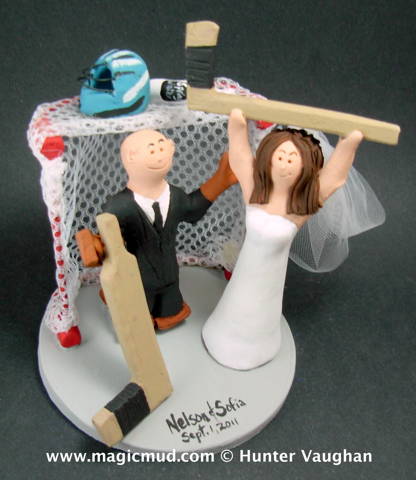Nhl Hockey Wedding Cake Toppers