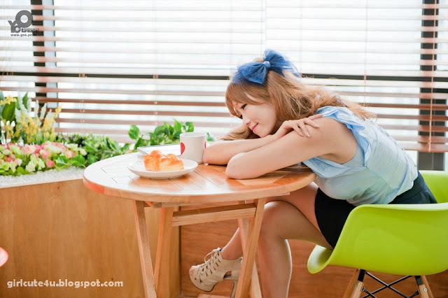 10 Lee Eun Hye in Blue-very cute asian girl-girlcute4u.blogspot.com