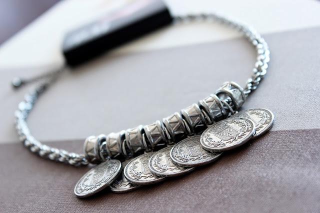 collar monedas plata hm