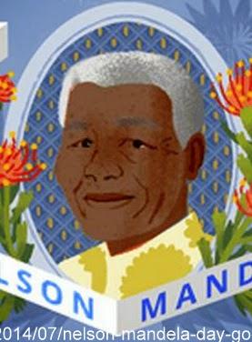 NELSON MANDELA DAY Google Doodle 18 July em HOMENAGEM aos 96 Anos de Nascimento e Dia Internacional do MANDELA Julho