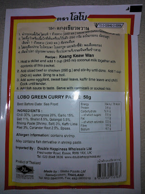Authentic Thai Green Curry Paste Bristol