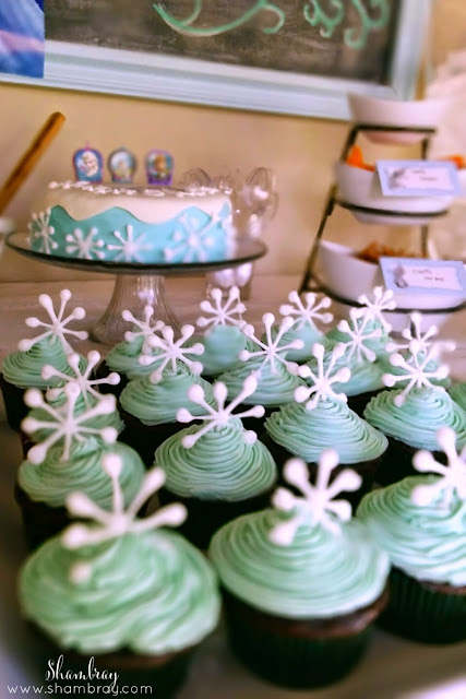 cupcakes, snowflakes, candles