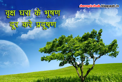 Save Tree Quote in Hindi Poster | Save Tree Slogans in Hindi Wallpaper