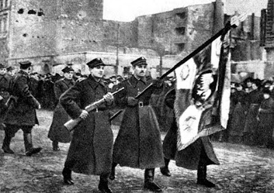 Polish soldiers of the Soviet backed 1st Polish Army Jan 1945 so-called liberation of Warsaw