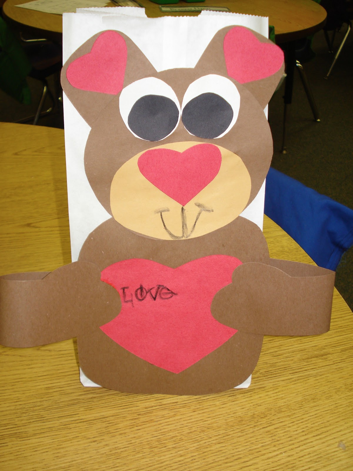 the valentine bears - Valentine Bags For School