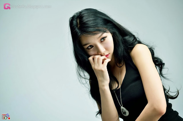 1 Go Jung Ah in black -Very cute asian girl - girlcute4u.blogspot.com
