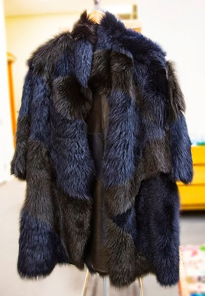 Reversible shearling and leather coat from designer, M. Patmos. at the Kit This pop up store.