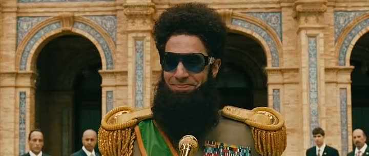 Screen Shot Of The Dictator (2012) Dual Audio Movie 300MB small Size PC Movie