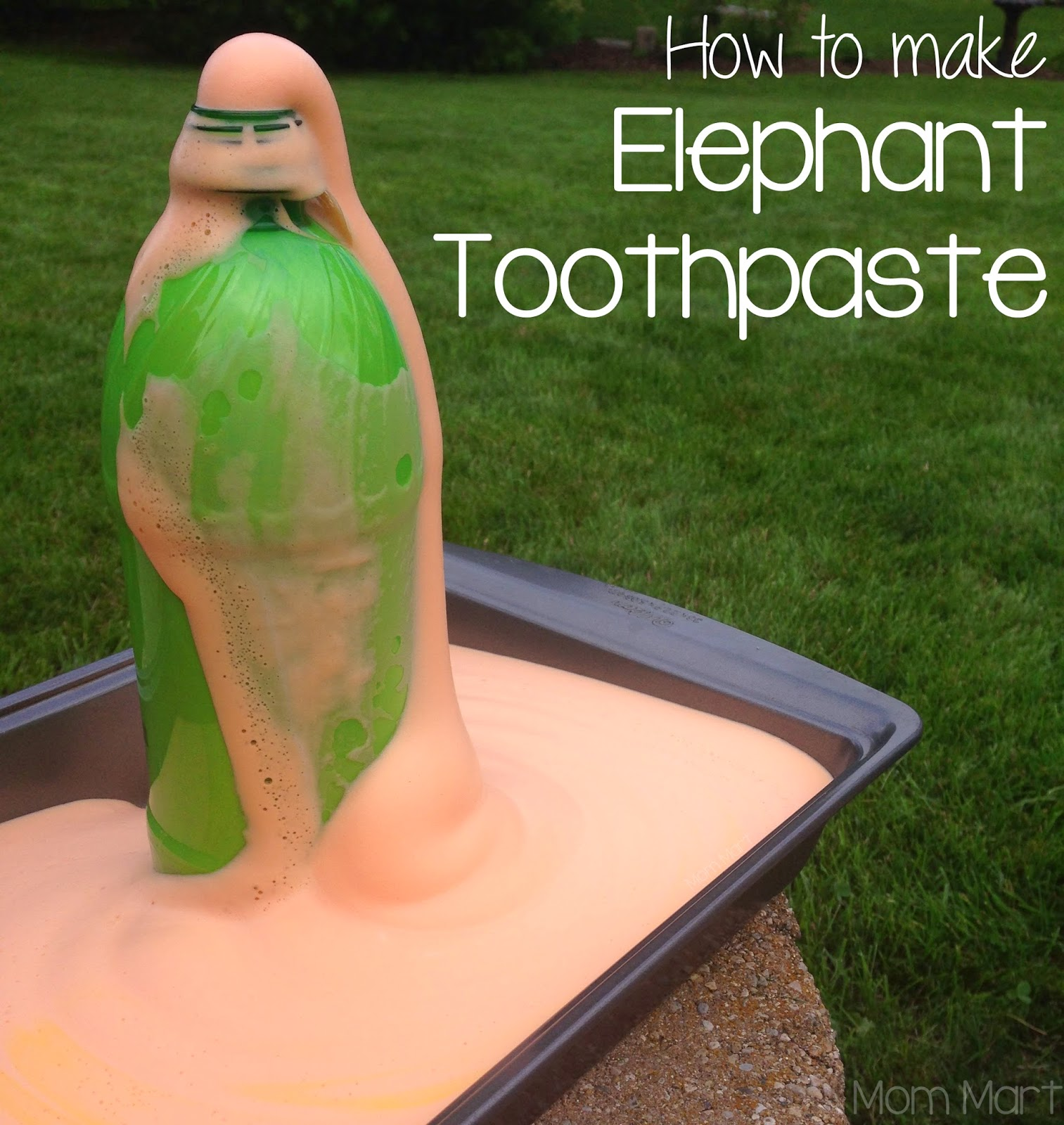 How to make elephant toothpaste: A science experiment to do at home! #tutorial