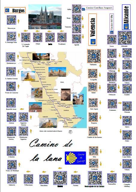 Guía del Camino de Santiago  de la Lana