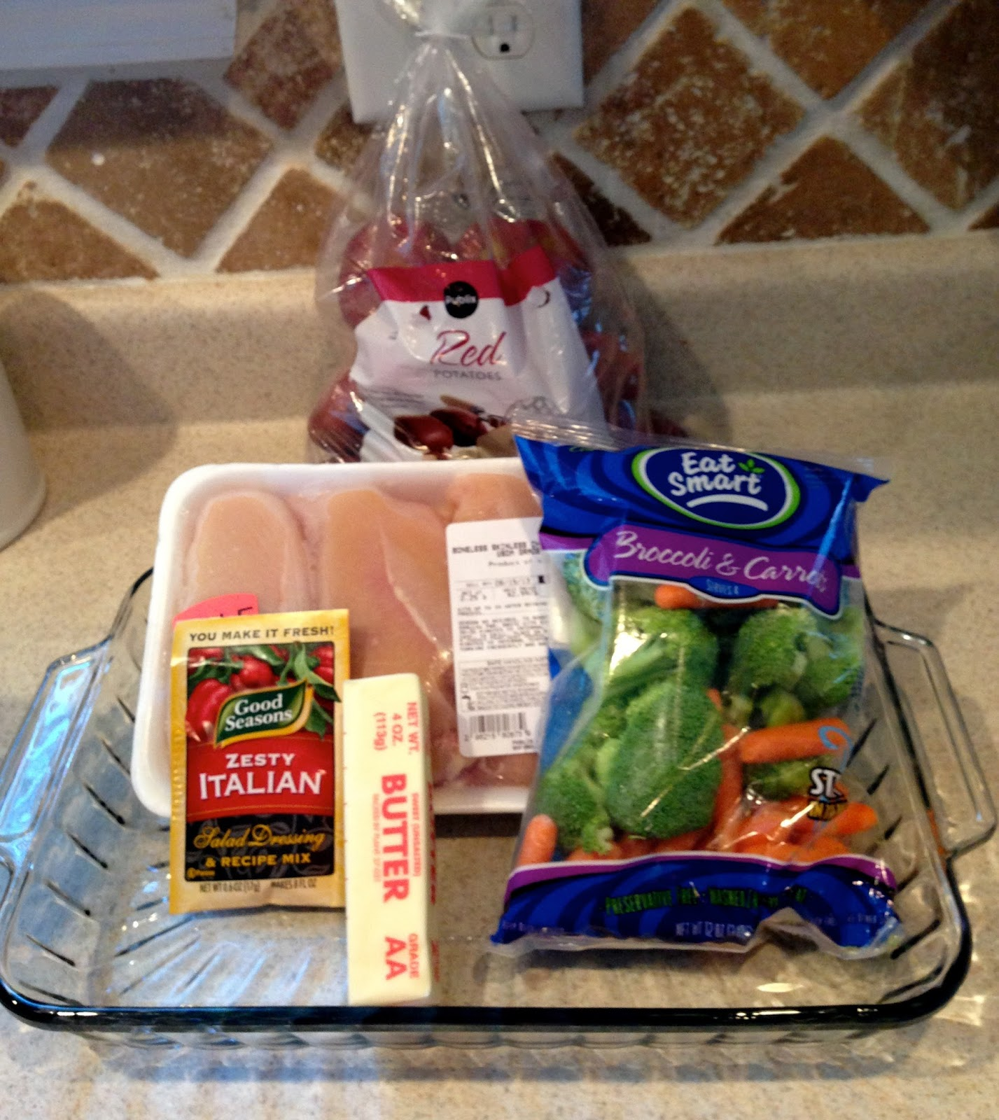 Easy Baked Chicken Dinner And Vegetables