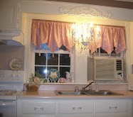 New Valances and an Old Chandelier