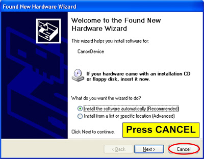 press cancel and the printer ready to reset 2 reset canon ip2770 and