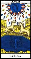 Carta de la Luna del Tarot de Marsella