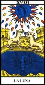 Carta de la Luna. Tarot