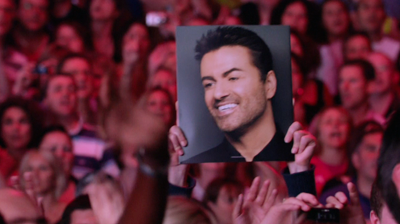 George Michael picture in a frame. London, 2008.