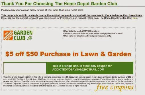 Home Depot Coupons May 2014