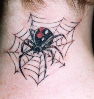 black widow spider tattoo - black widow spider tattoo pictures