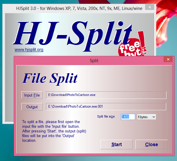 Cara Memecah File Dan Menggabungkan File Dengan HJ-Split 2