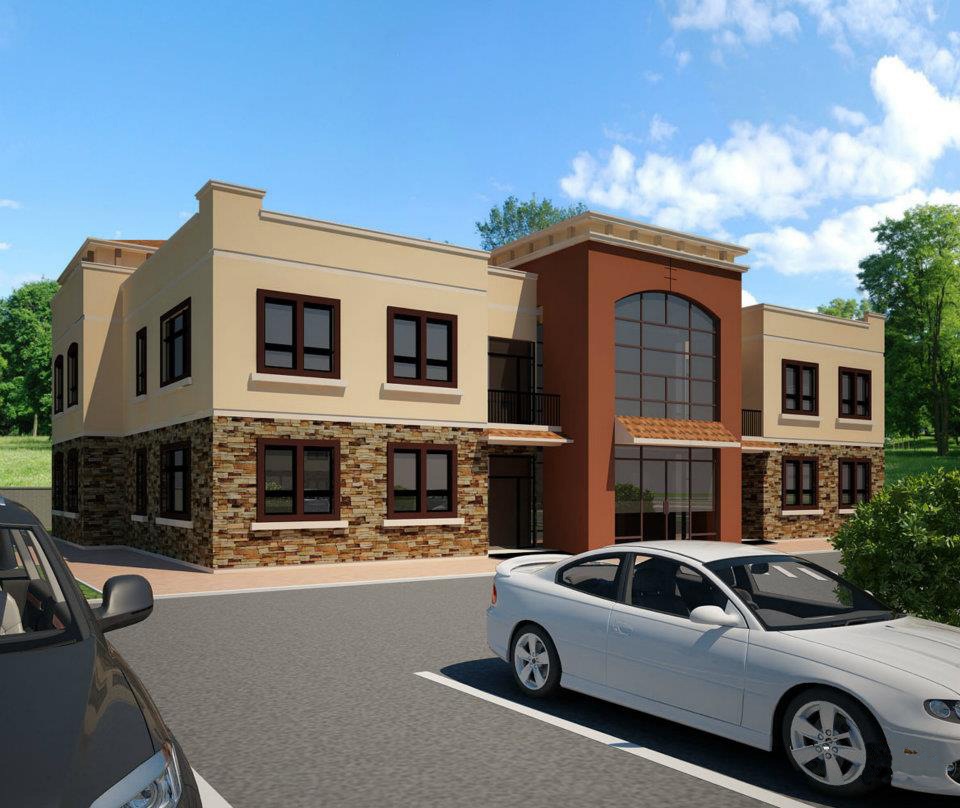 Commercial Office Buildings Front Elevation Plans