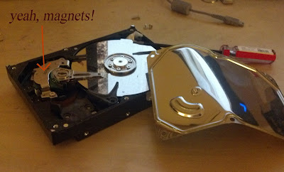 magnets in hard drive