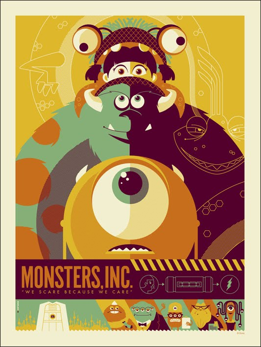 INSIDE THE ROCK POSTER FRAME BLOG: Monsters Inc. movie ...