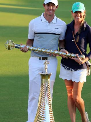 That was then ... Rory McIlroy with Caroline Wozniacki.Source:Supplied