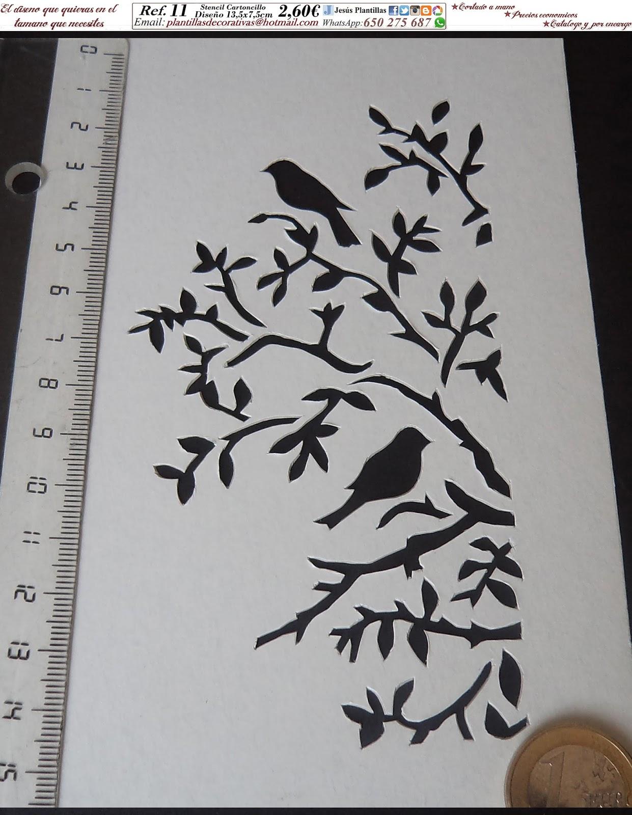 Plantillas decorativas estarcido stencil - Plantillas decorativas pared ...