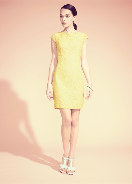 Yellow short dress from warehouse
