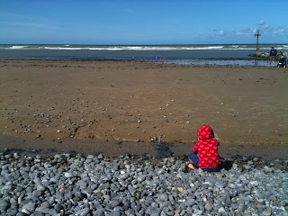 Red on sheringham beach