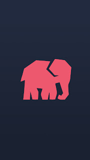 Free  iPhone Background downloads elephant vector