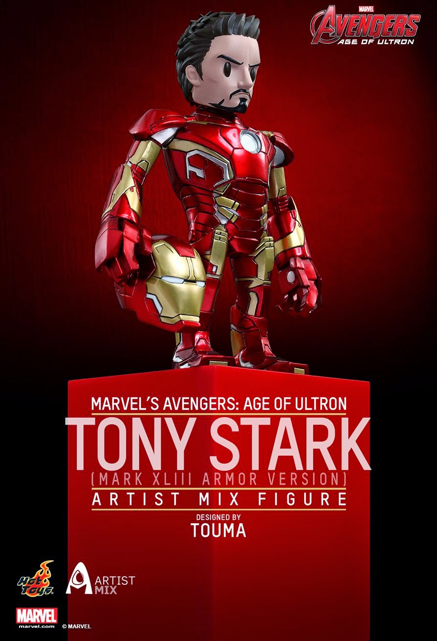 Marvel's Avengers: Age of Ultron Tony Stark in Iron Man Mark XLIII Armor Artist Mix Figure by Touma & Hot Toys