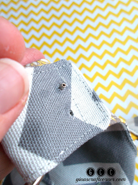 How to add rivets to your handmade handbags by Ginas Craft Corner @ ginascraftcorner.com