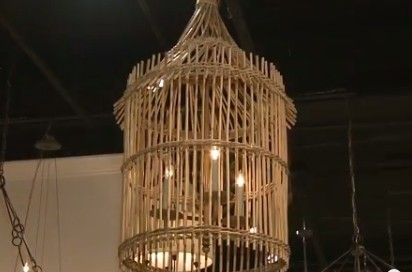 Bamboo chandelier at home and interior design ideas fabulous the bamboo cloud chandelier by roost aloadofball Choice Image