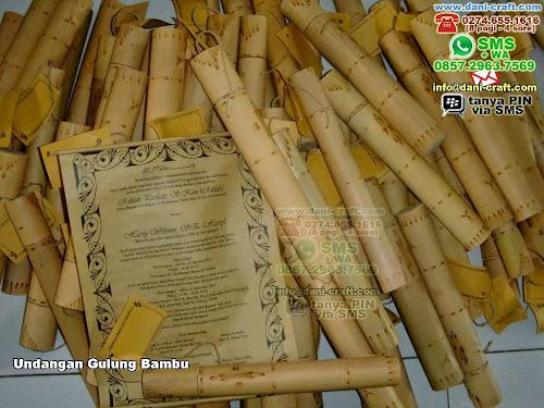 Undangan Gulung Bambu Bambu Jakarta Selatan