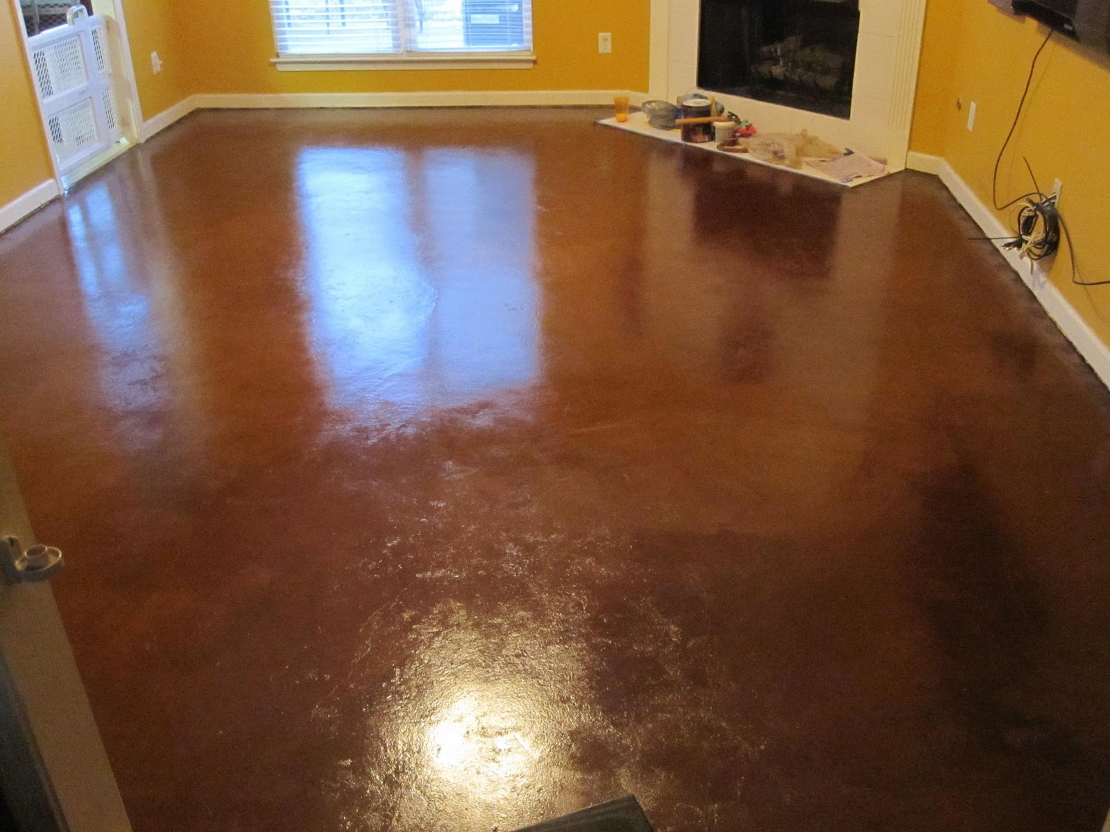 Colored Interior Concrete Floor : Raising royalty painted concrete floors are beautiful