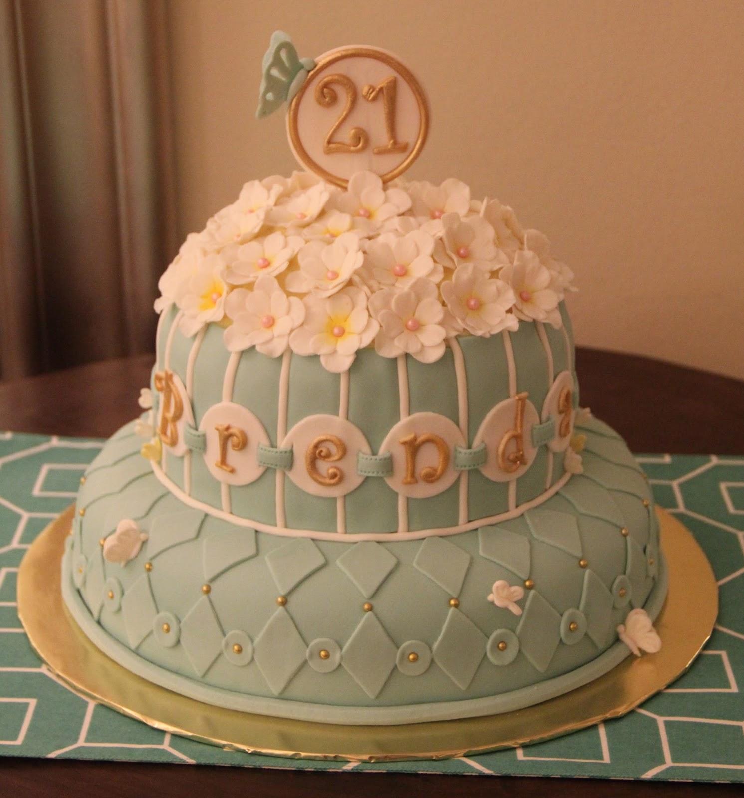 Robin Blue 21st Birthday Cake Cakeart