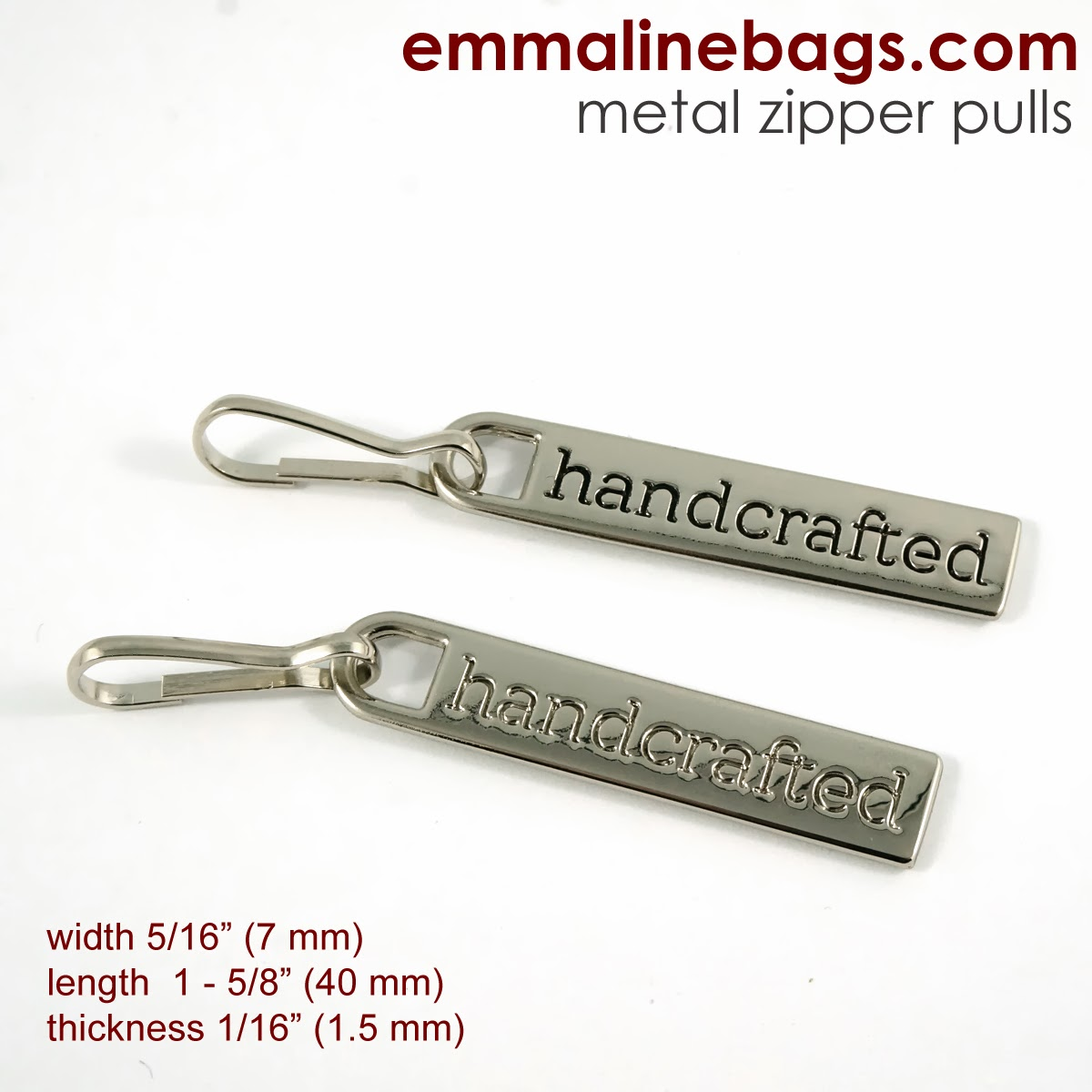 Zipper pulls for Jackets and bags
