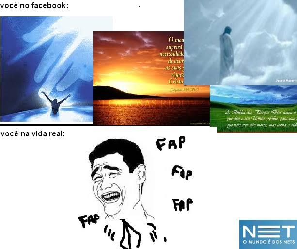 imagem facebook vida real